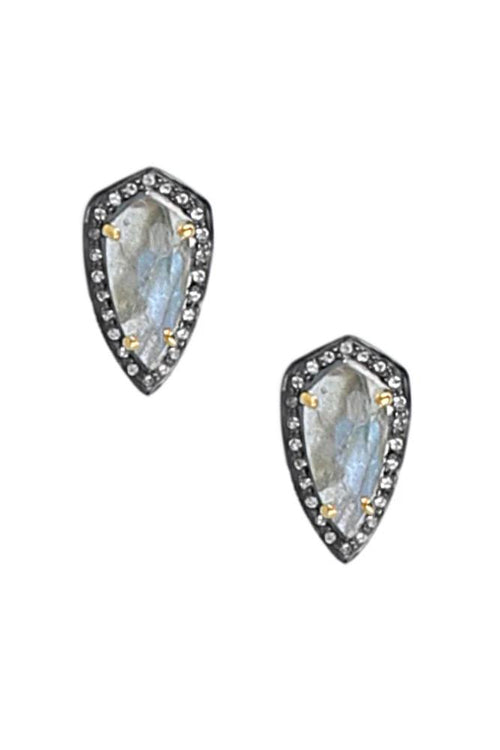 Labradorite Framed Stud Earrings