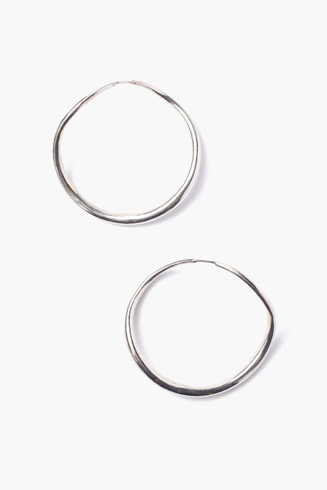 Silver Grande Infinity Hoop Earrings