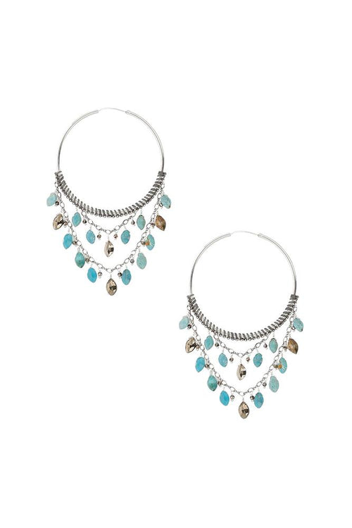 Turq Mix Statement Hoops