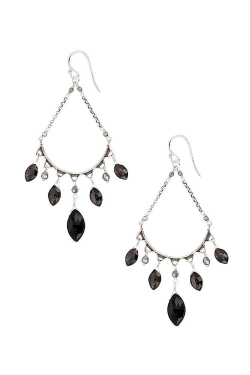 Hypersthene Teardrop Hoops