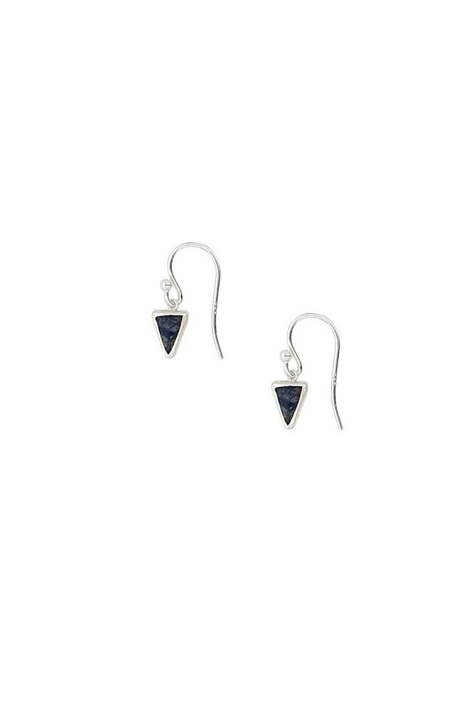 Sodalite Triangle Drop Earrings