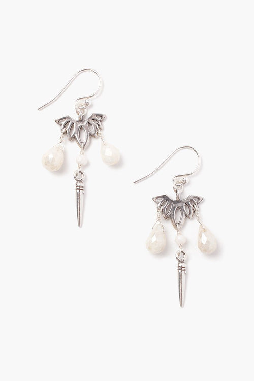 Silverite Lotus Earrings