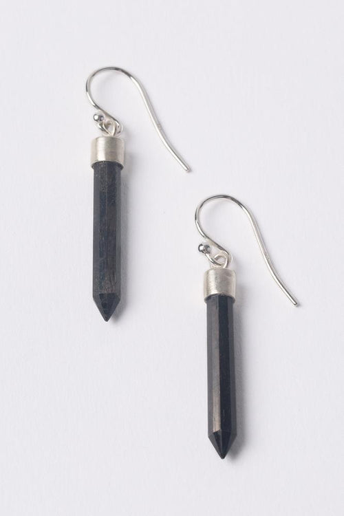 Hypersthene Bullet Dangle Earrings