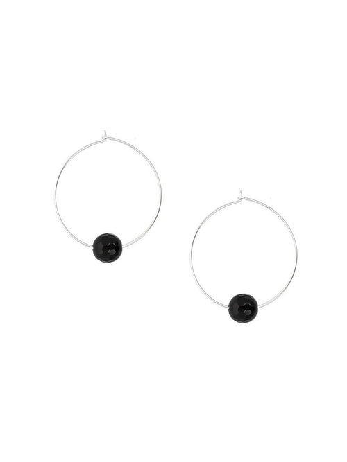 Onyx Hoop Earrings