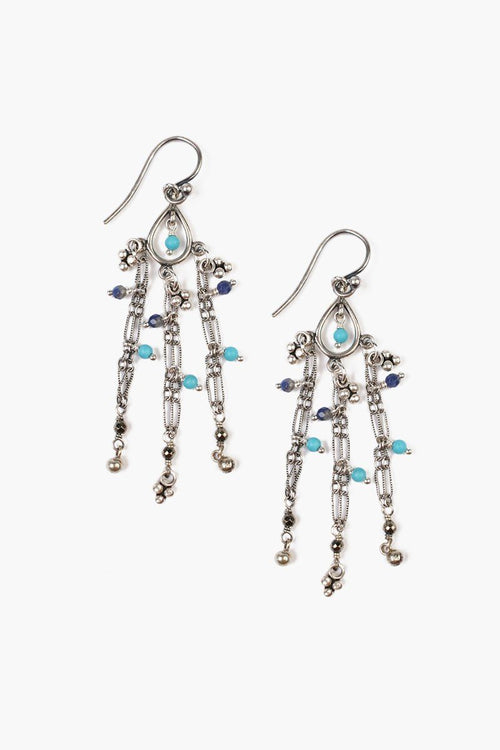 Turquoise Mix Chain Earrings