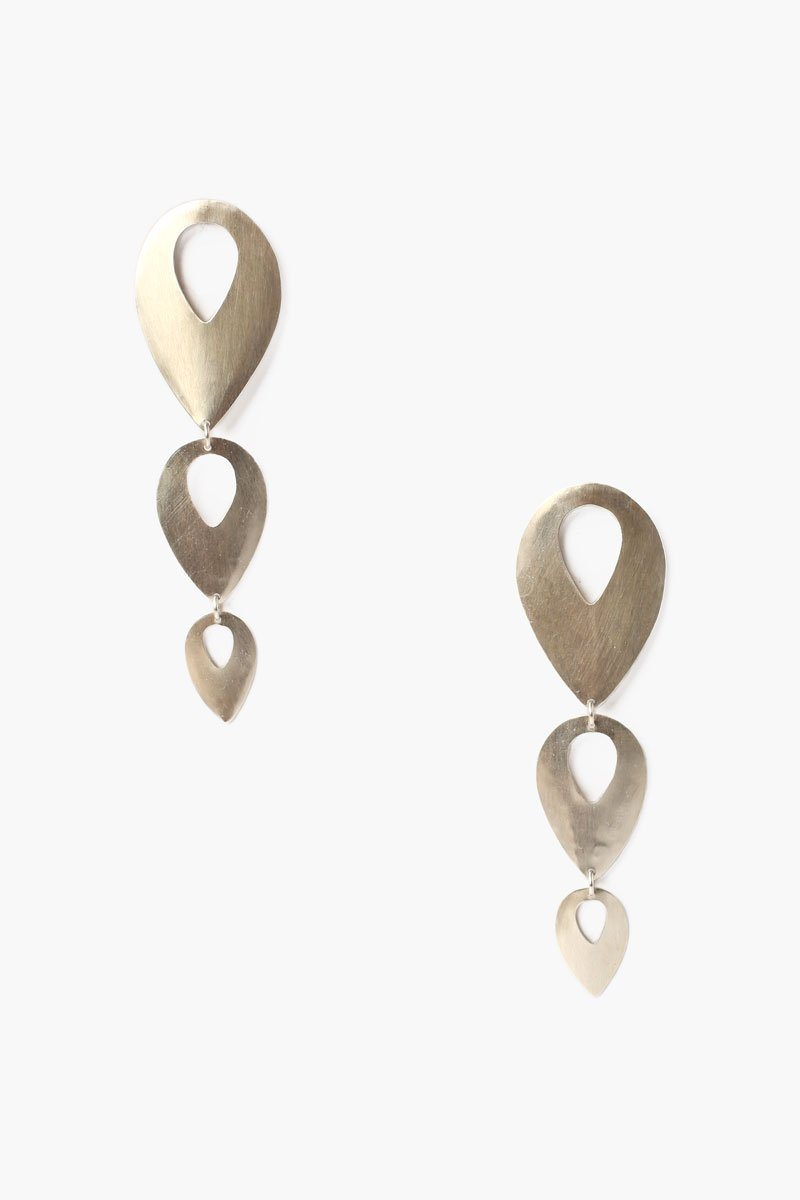 Silver Tiered Picasso Earrings