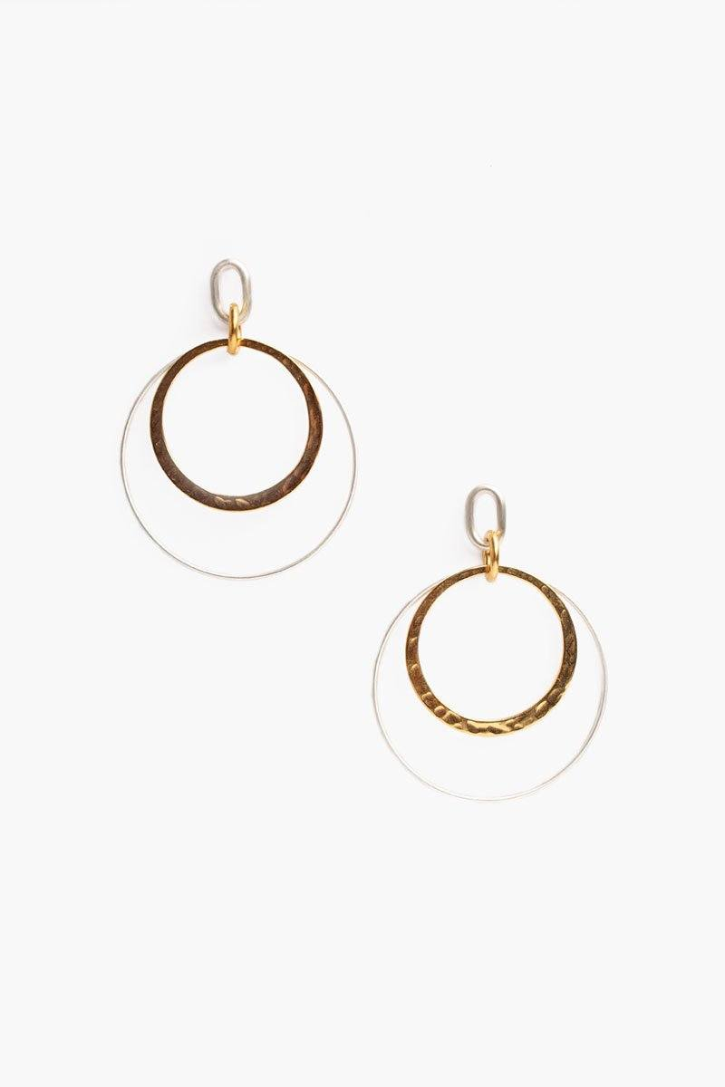 Silver Mix Hoop Earrings
