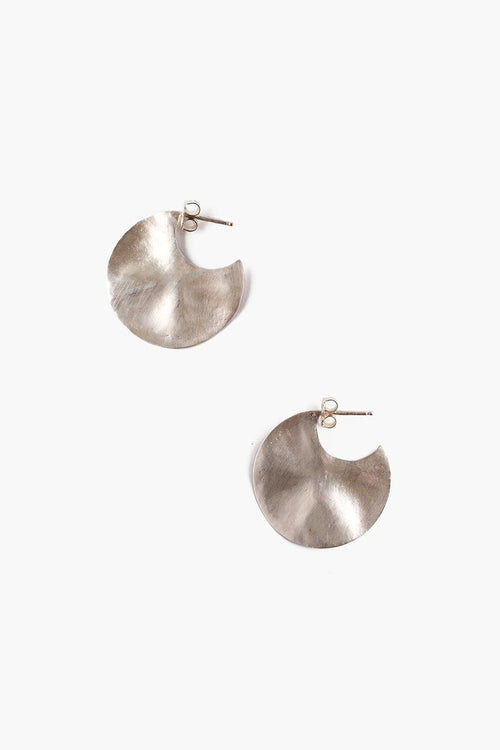 Silver Petite Cymbal Earrings