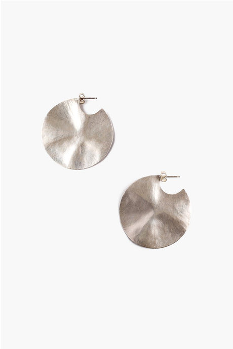 Silver Hammered Cymbal Earrings