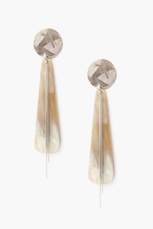 White Horn Totem Earrings