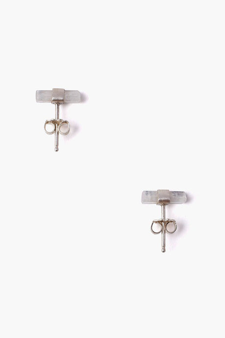 Moonstone Baguette Stud Earrings