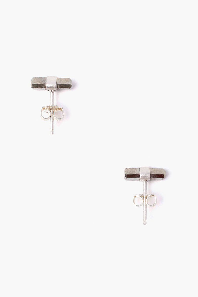 Pyrite Baguette Stud Earrings