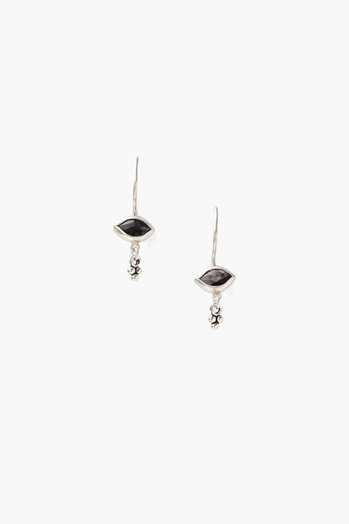 Hypersthene Evil Eye Charm Earrings