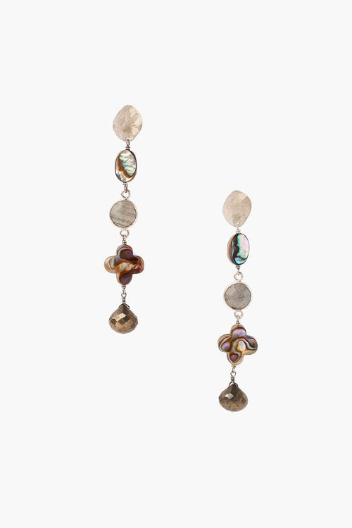 Abalone Mix Tiered Earrings