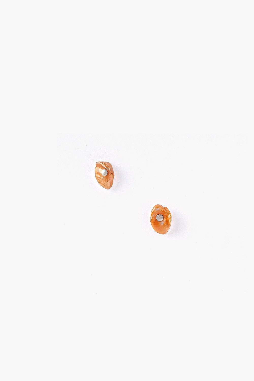 Bronze Pearl Stud Earrings