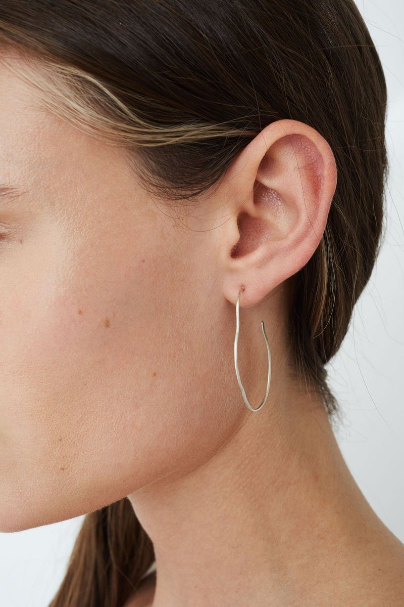 Petite Silver Matisse Hoop Earrings