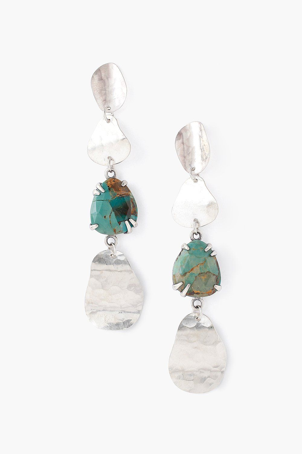 Tiered Green Turquoise Matisse Earrings