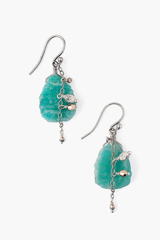 Sliced Amazonite Earrings