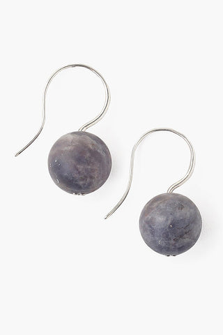 Matte Iolite Drop Earrings