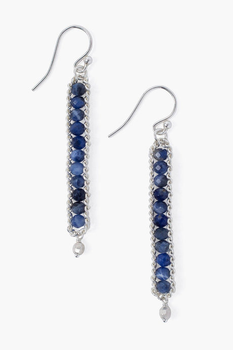 Sodalite Chain Wrap Earrings