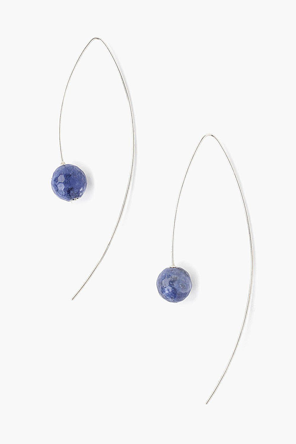Sodalite Thread Thru Earrings