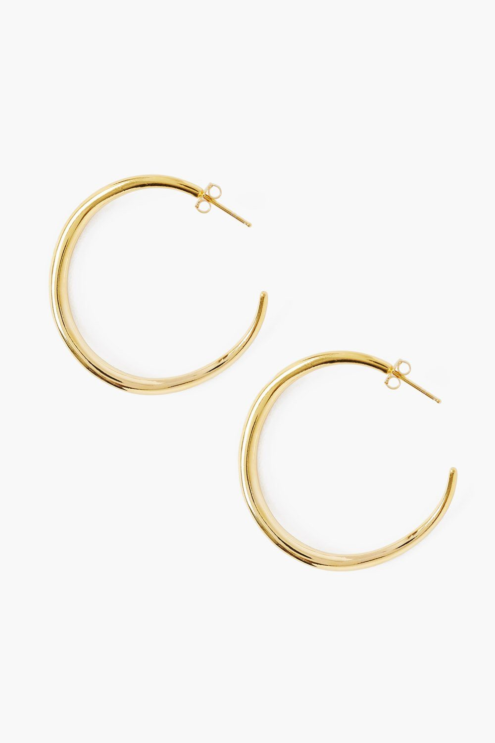 Grande Infinity Hoop Gold Earrings