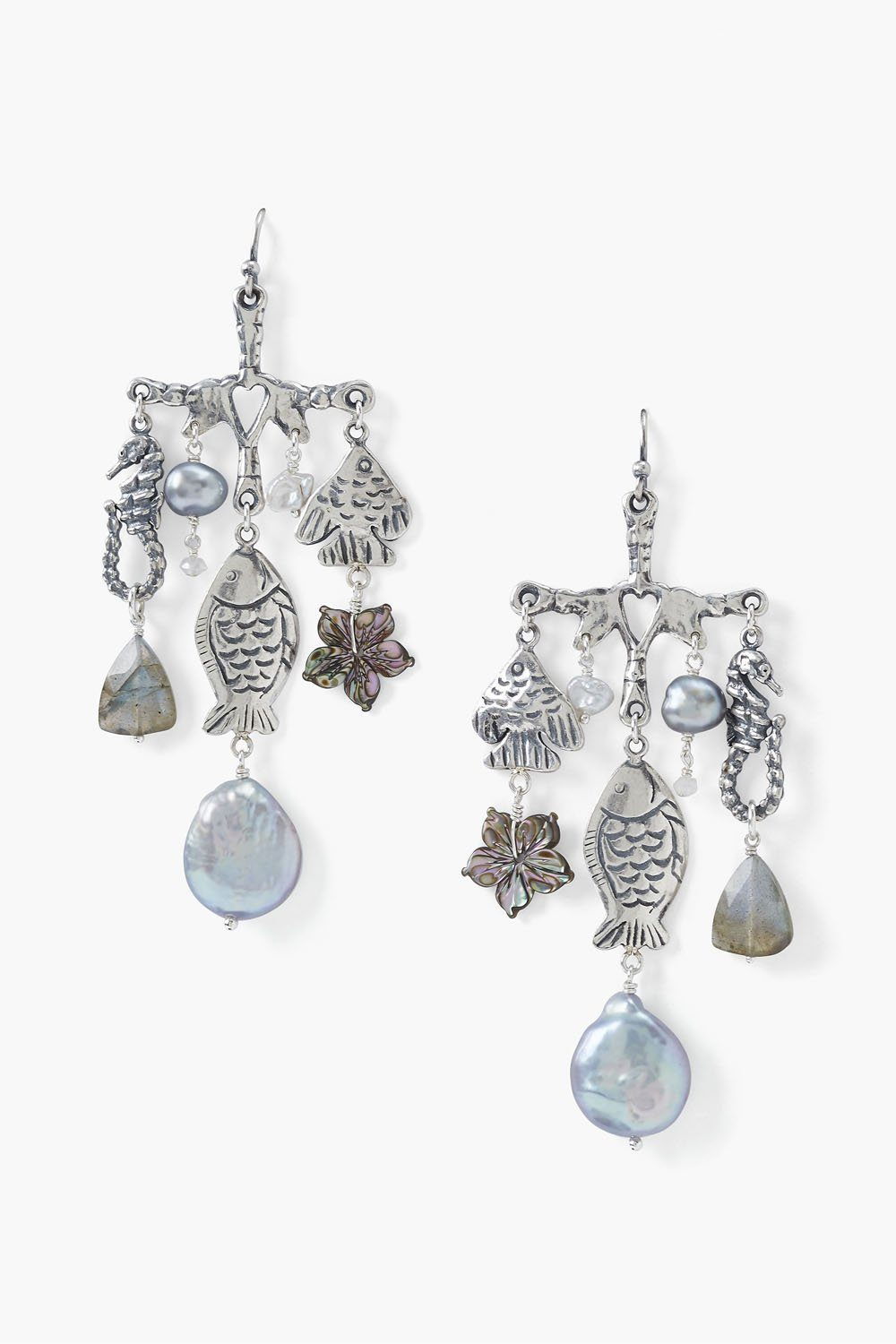 La Mer Chandelier Earrings