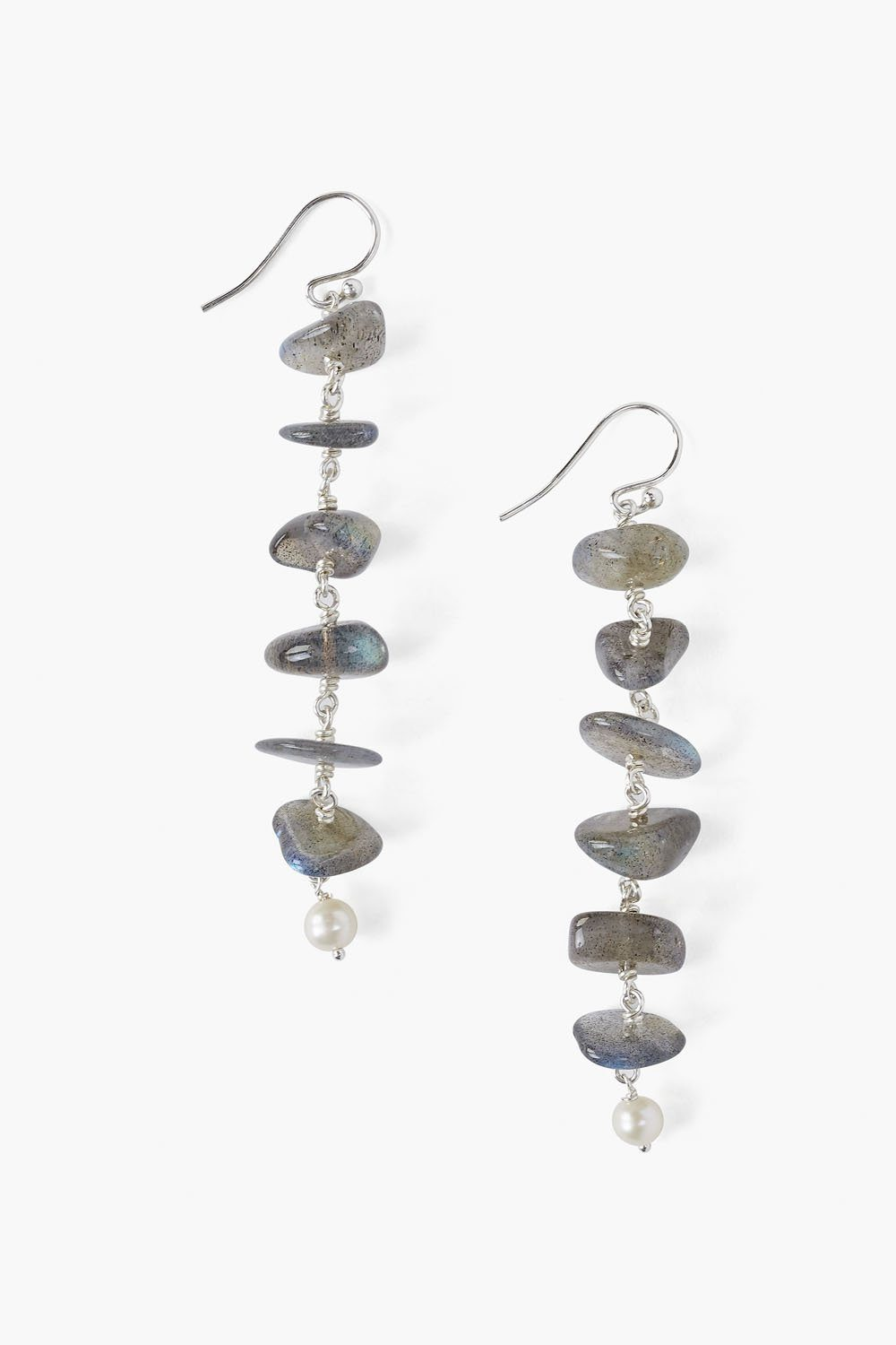 Labradorite Ladder Drop Earrings
