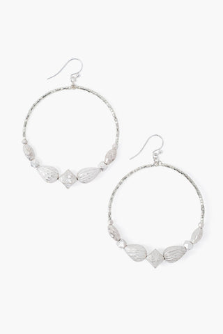 Silver Graduated Hoop Earrings
