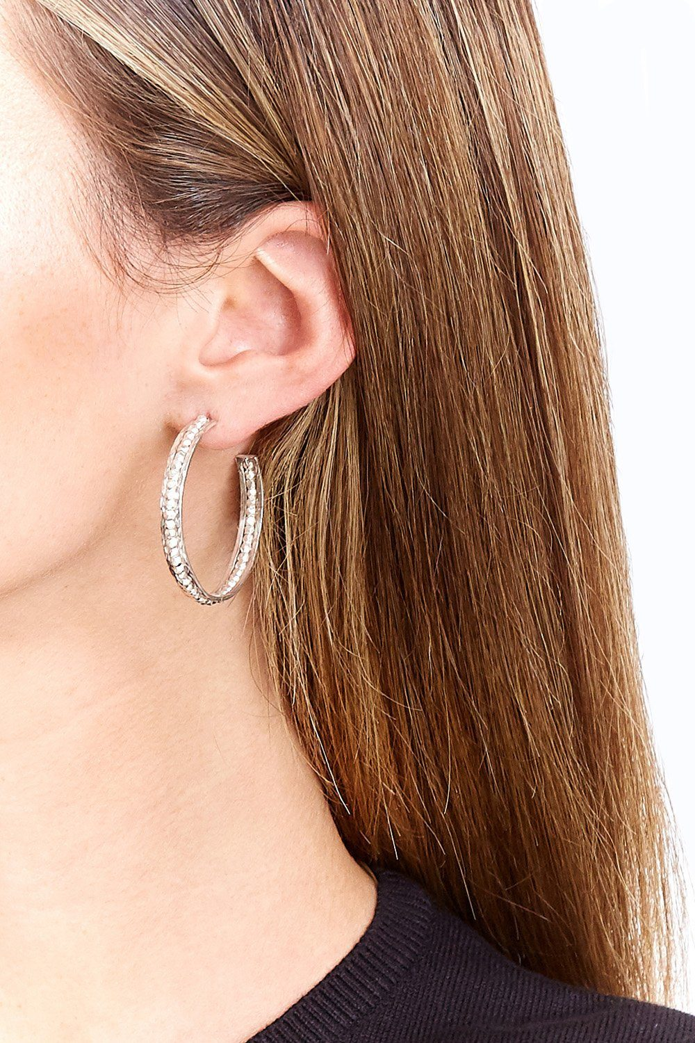 Silver Sedona Hoop Earrings