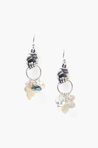 Aquamarine Mano Earrings