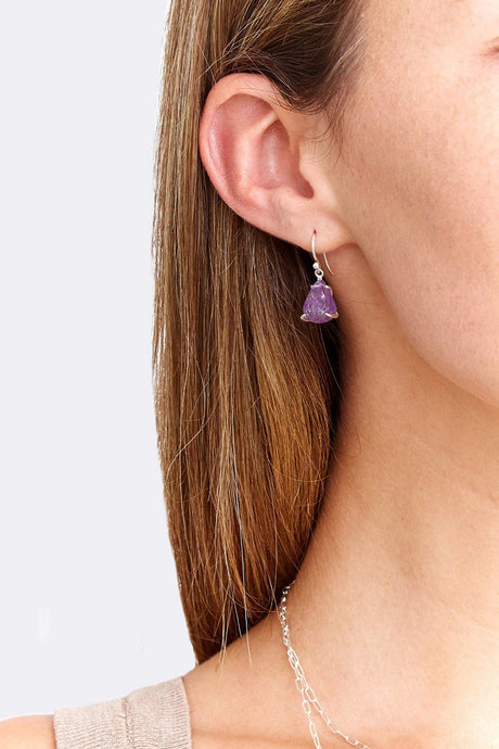 Amethyst Healing Stone Earrings