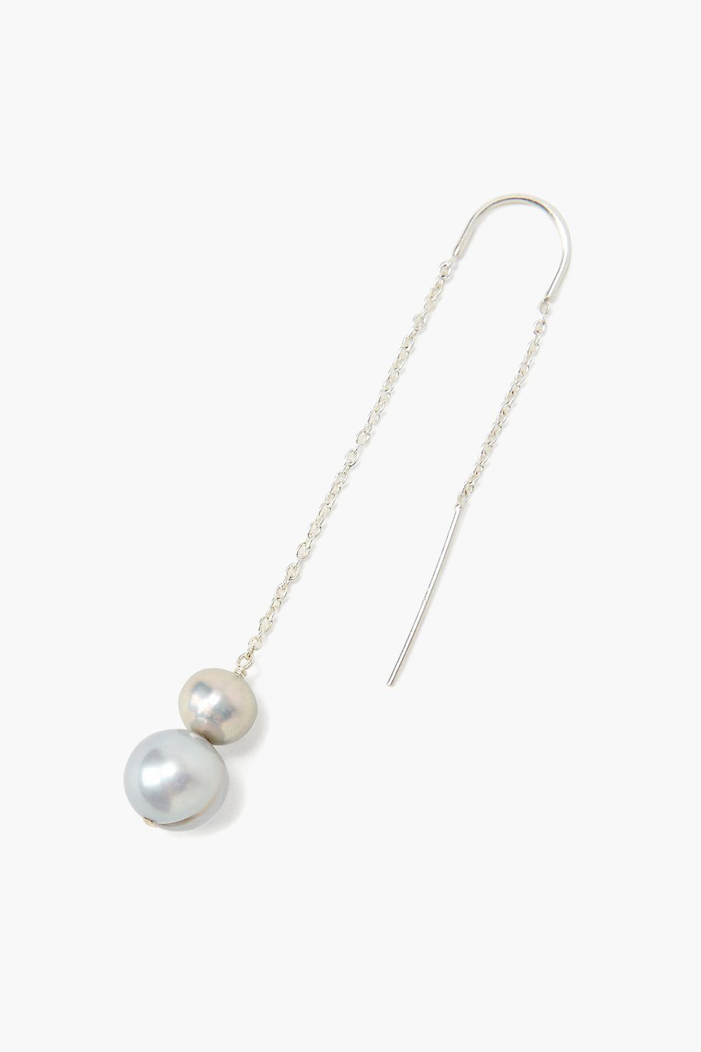 Ombré Grey Pearl Thread-Thru Earrings