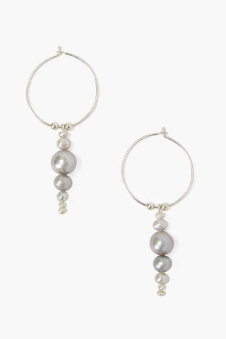 Grey Pearl Jubilee Earrings