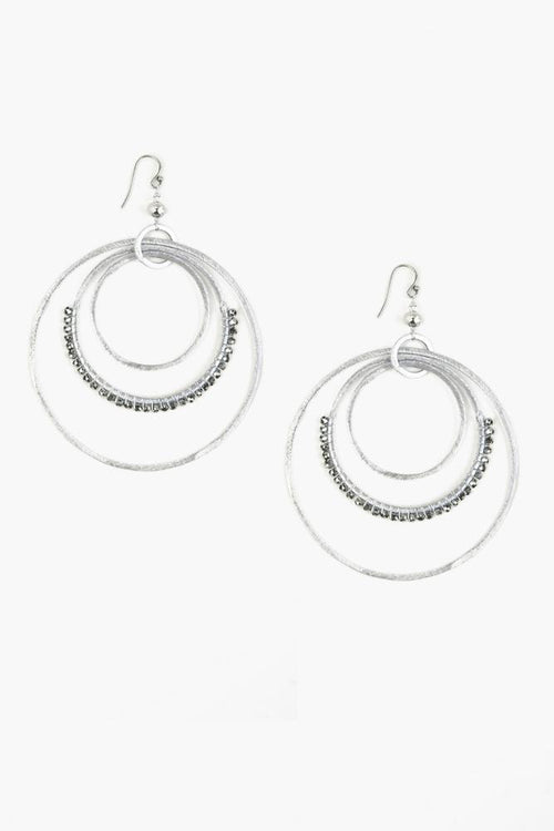 Silver Tiered Hoop Earrings