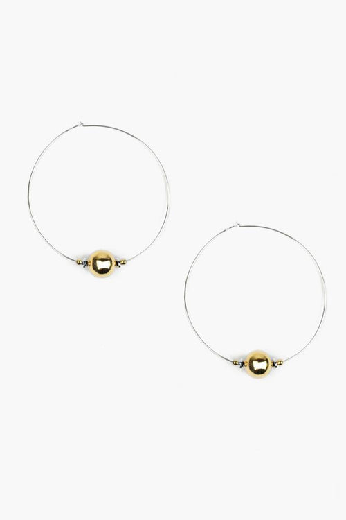 Gold and Silver Mix Hoop Earrings