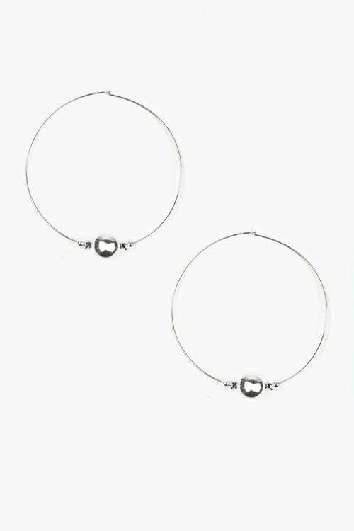 Silver Toned Hoop Earrings