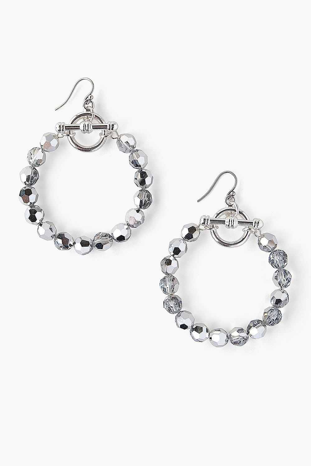 Crystal Cal Crystal Hoop Earrings