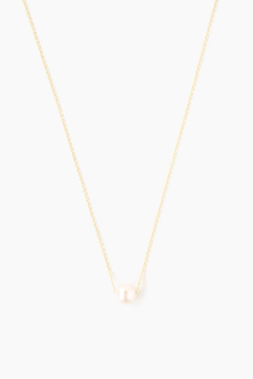 Gold Freshwater Pearl Pendant Necklace