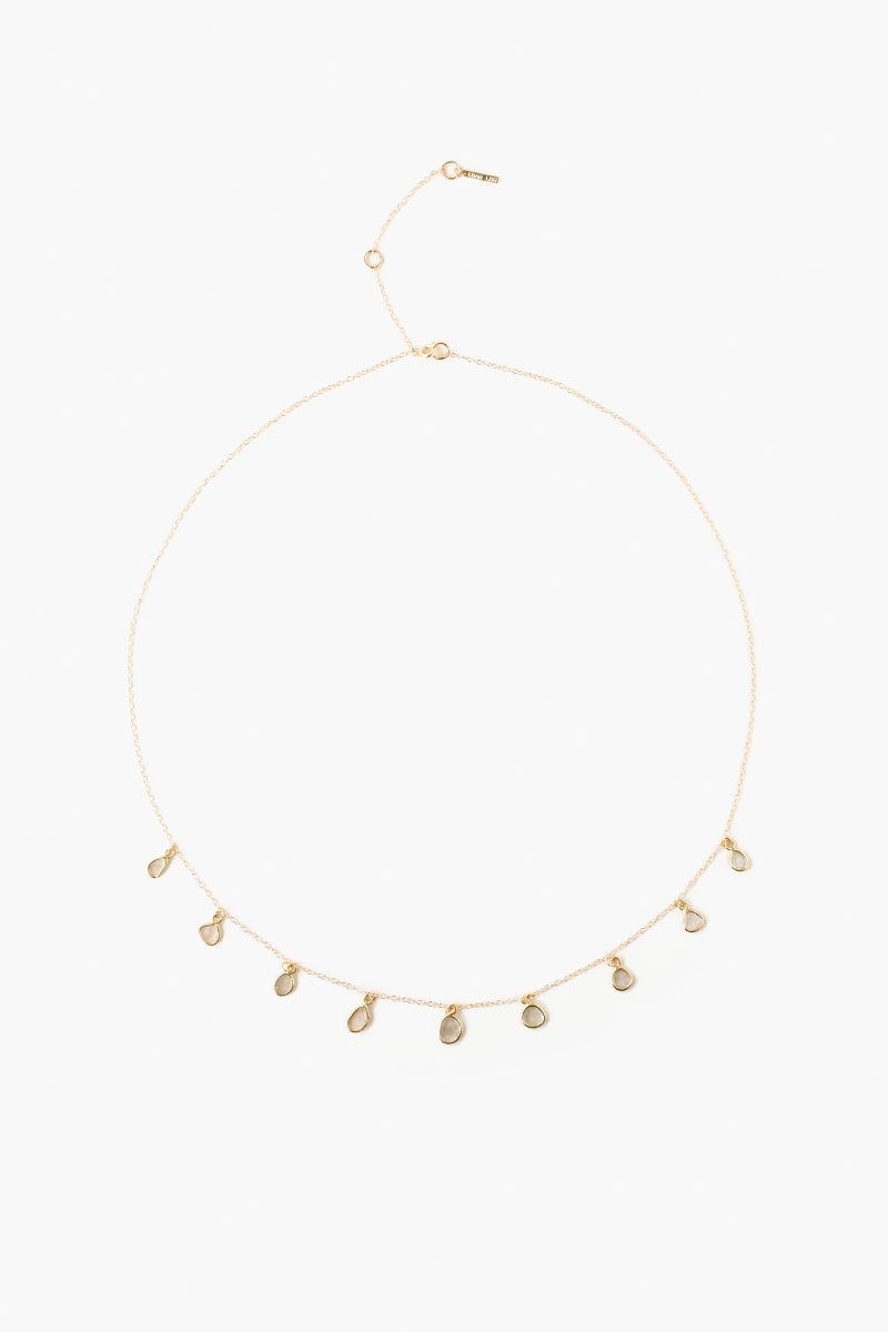 Sliced Champagne Diamond Dangling Necklace