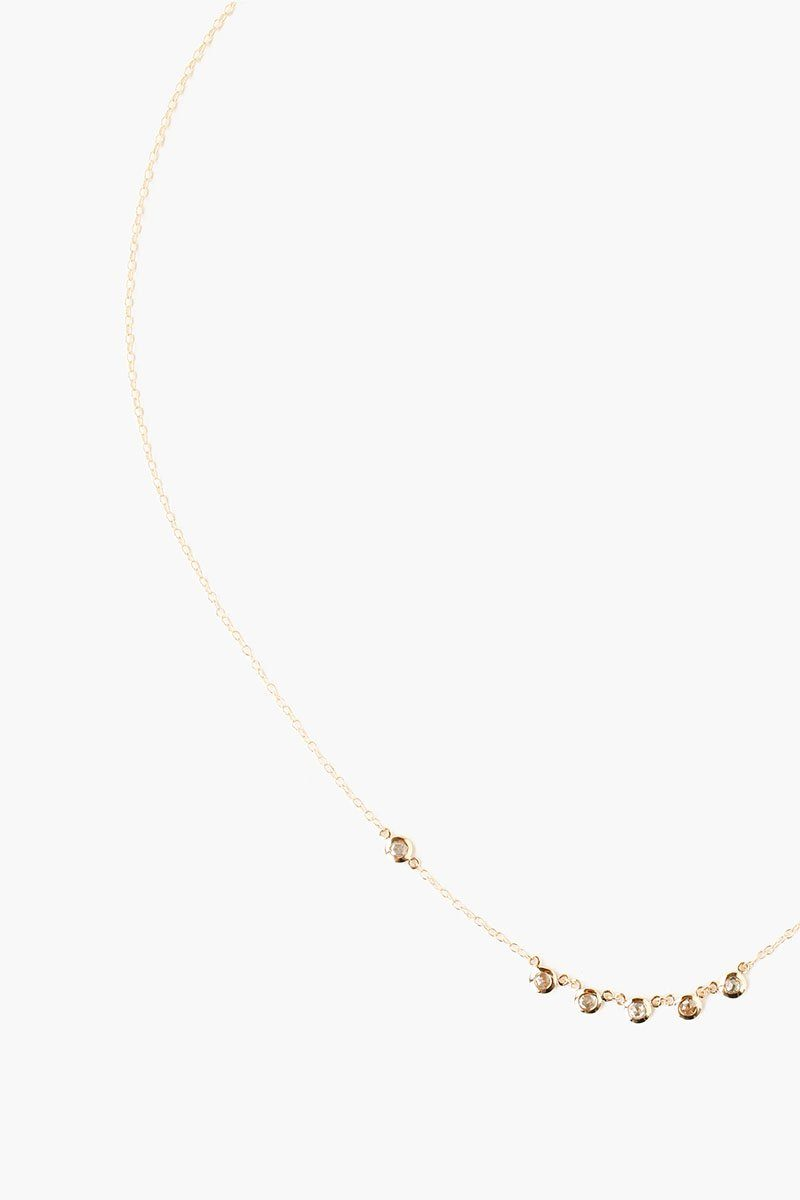 14k Champagne Diamond Gold Short Necklace