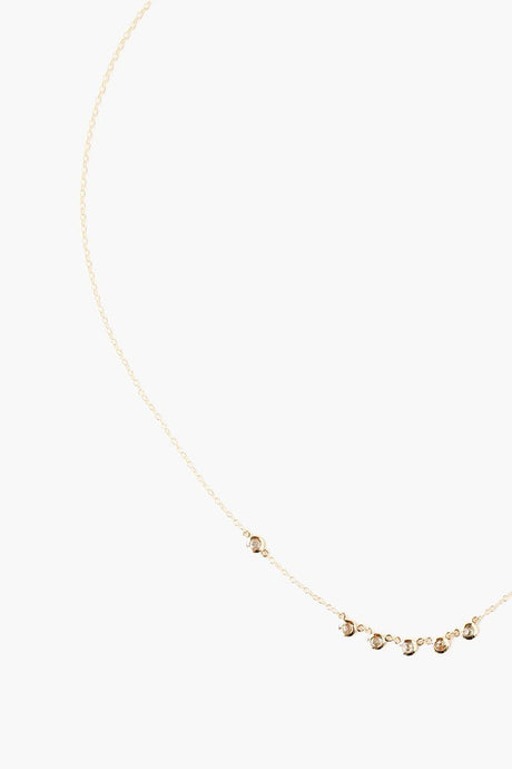 Champagne Diamond Gold Short Necklace
