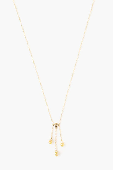 Champagne Diamond Gold Drop Necklace