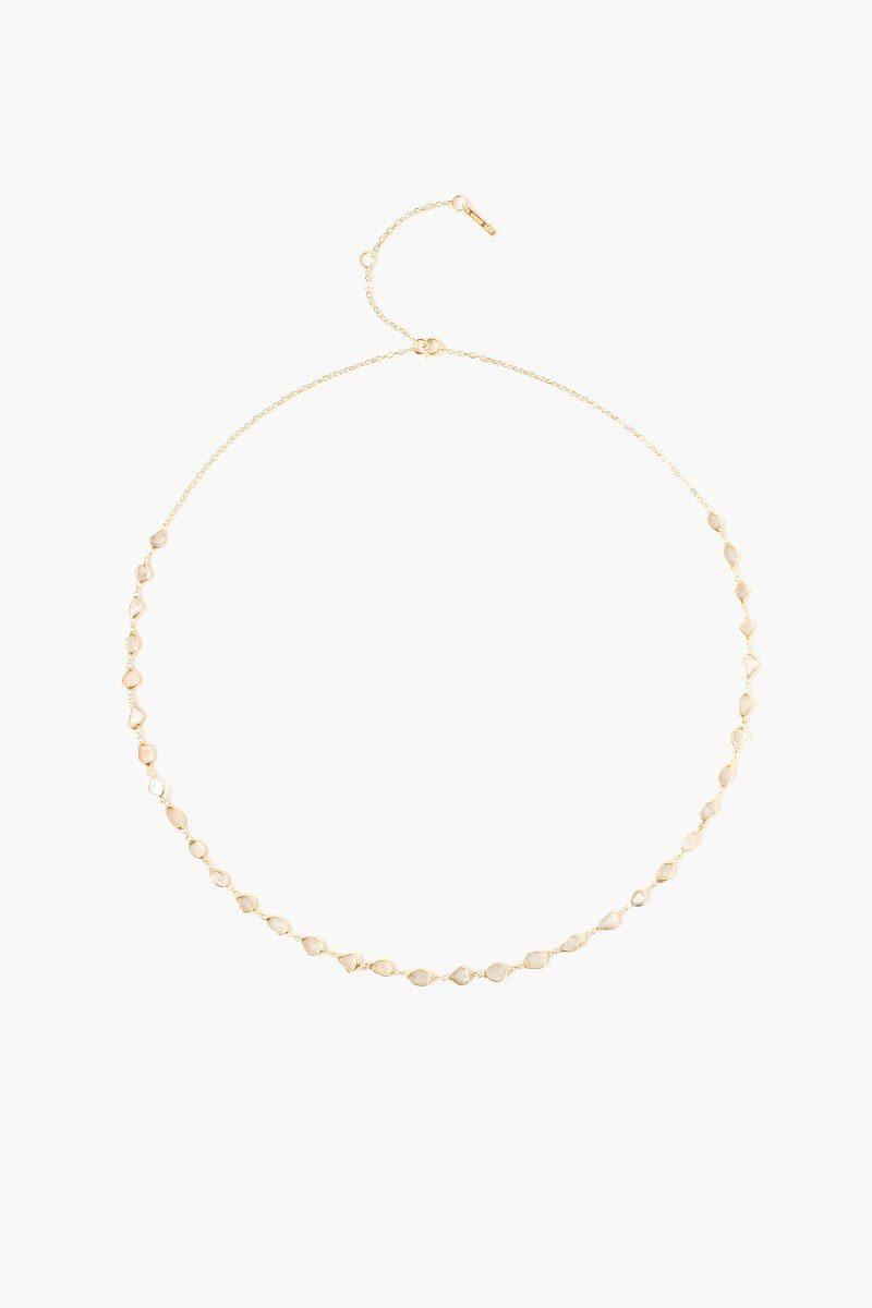 Sliced Champagne Diamond Strand Necklace