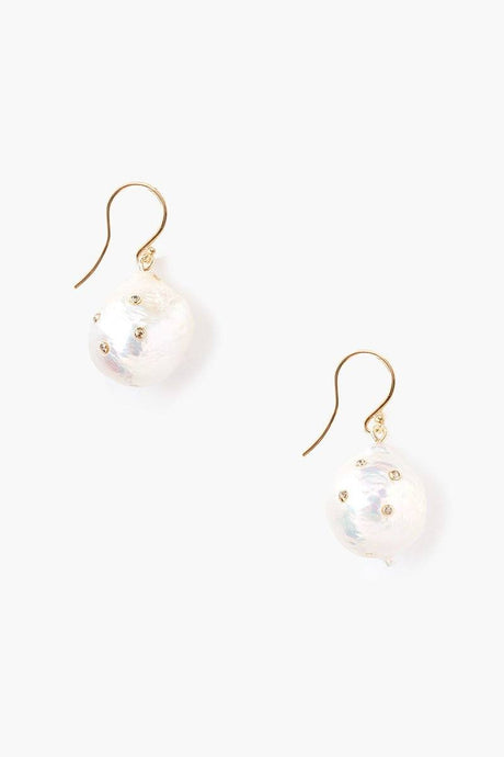 Champagne Diamond Akoya Pearl Drop Earrings