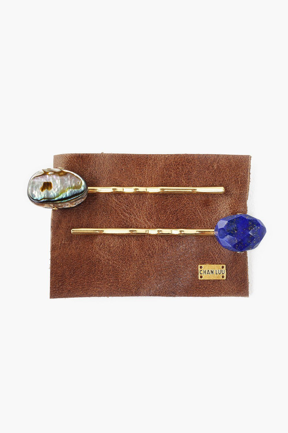 Set of Abalone and Lapis Hair Pins