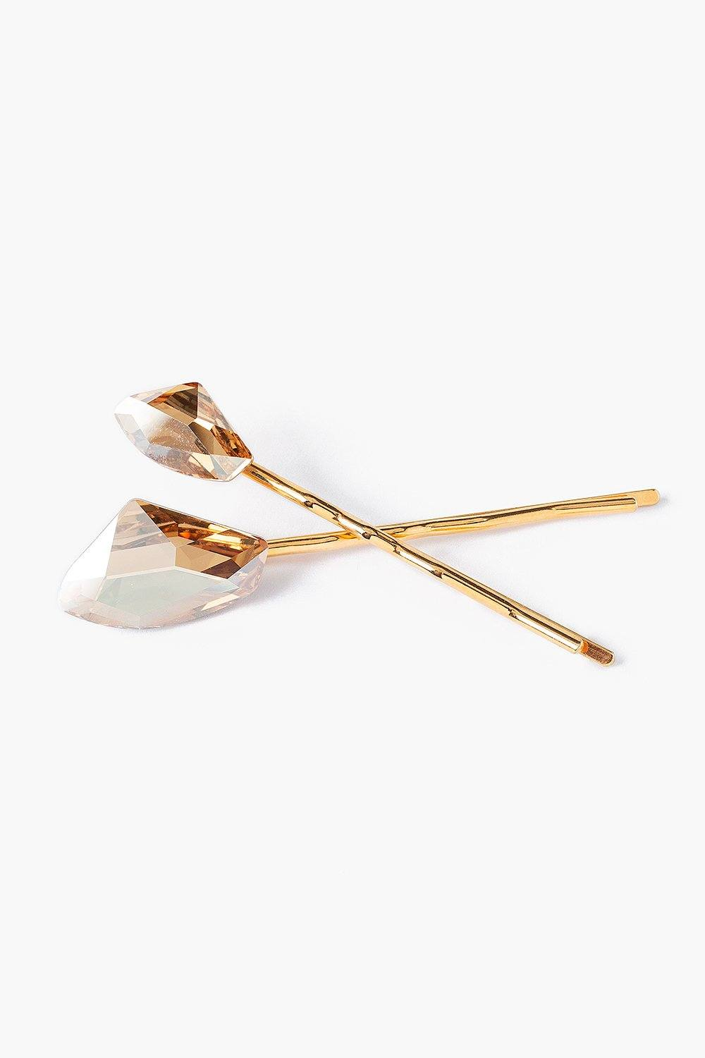 Set of Gold Swarovski® Crystal Hair Pins