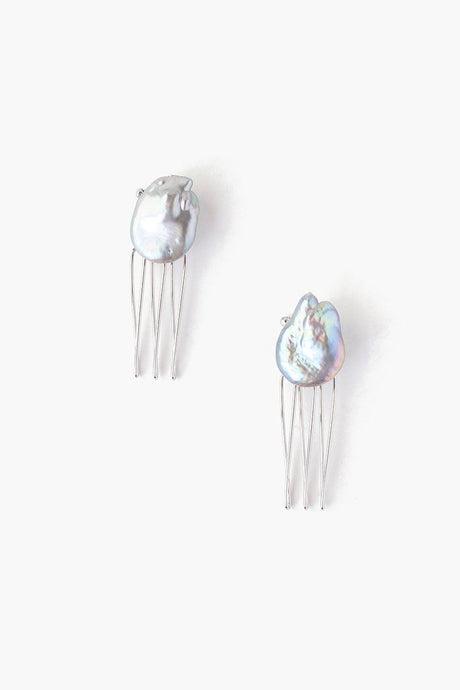 Mini Peacock Pearl Duo Hair Combs