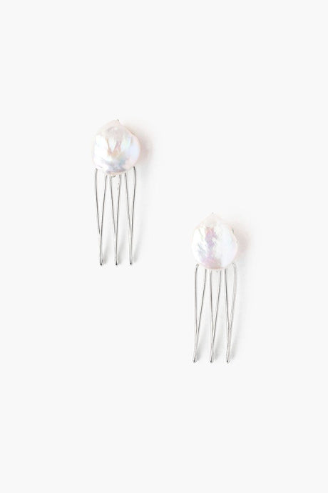 Mini White Pearl Duo Hair Combs