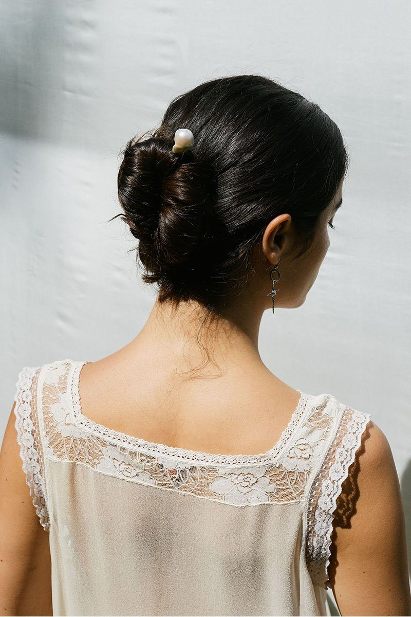 White Baroque Hair Pin